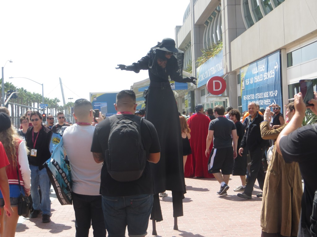 Person on stilts at Comicon
