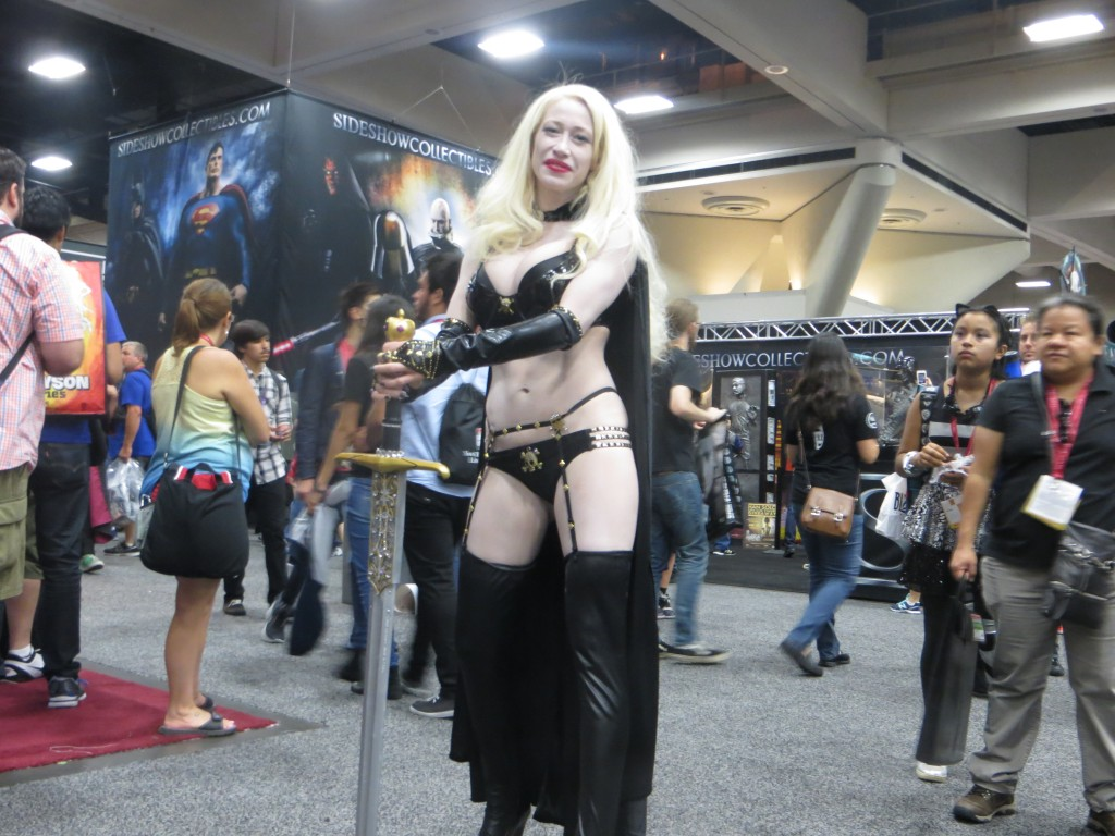 Photo of woman cosplaying at Comicon 2014