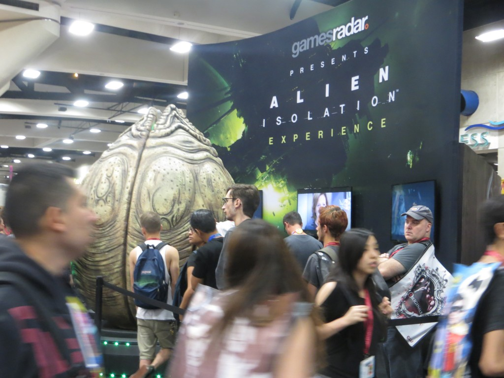 Photo of large Alien egg at Comicon 2013