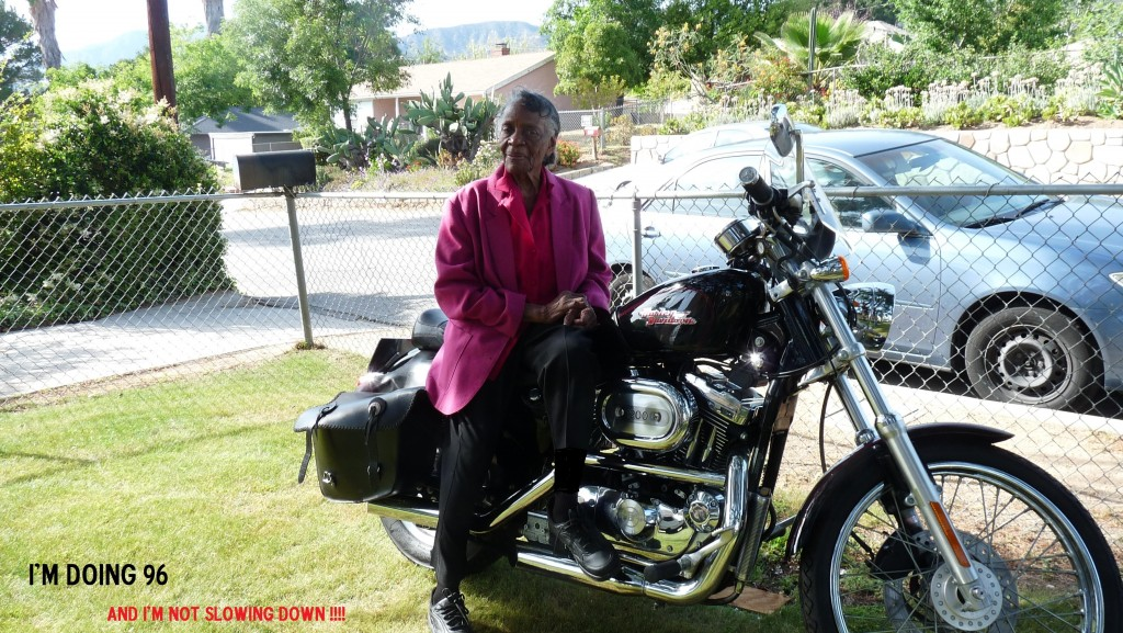 photo of mom on Harley